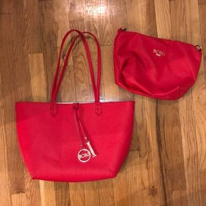 BCBG tote and clutch combo